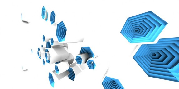 3D tapety a obrazy na zeď (multibevel-honeycomb01.jpg)