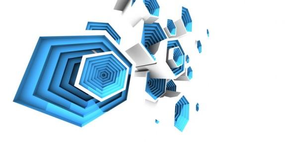 3D tapety a obrazy na zeď (multibevel-honeycomb05.jpg)